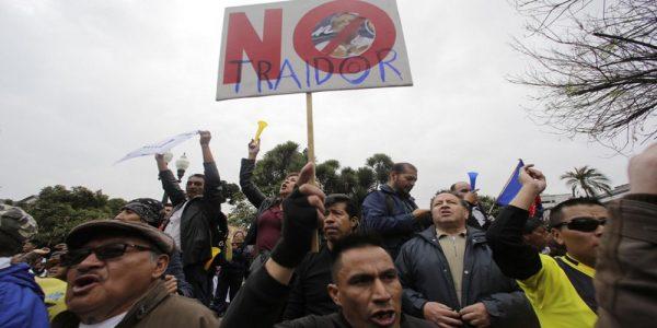 Ecuador: Este no es mi presidente