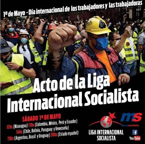 Acto Internacional de la LIS por el Día del trabajador y trabajadora