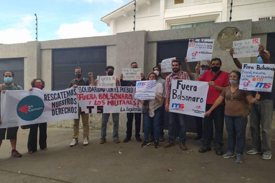 Marea Socialista participó en acto internacionalista contra el gobierno de Jair Bolsonaro