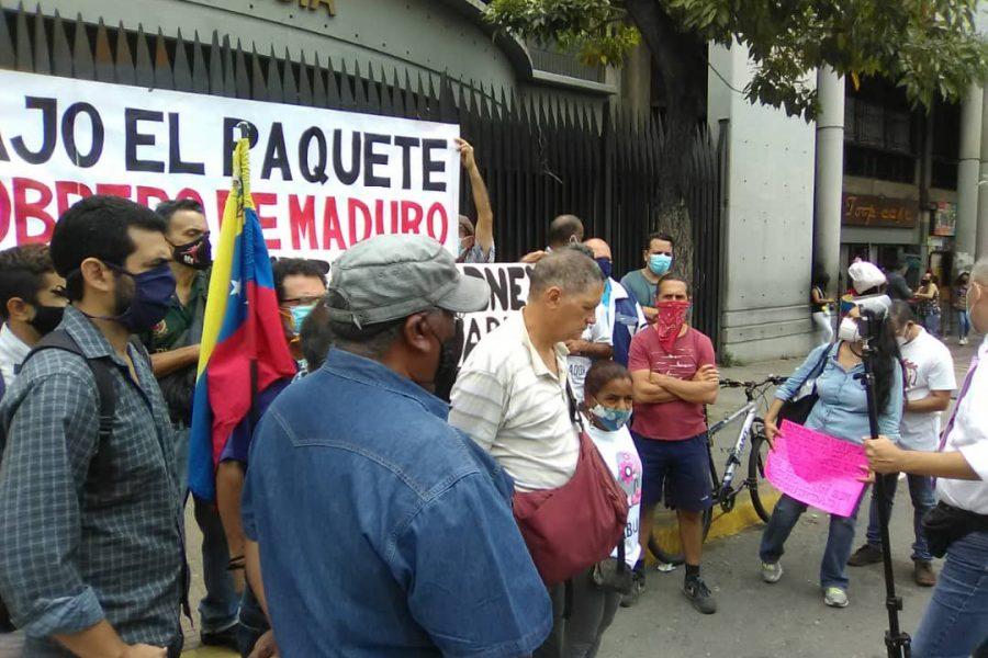 Marea Socialista participó en piquete exigiendo libertad para Rodney Álvarez