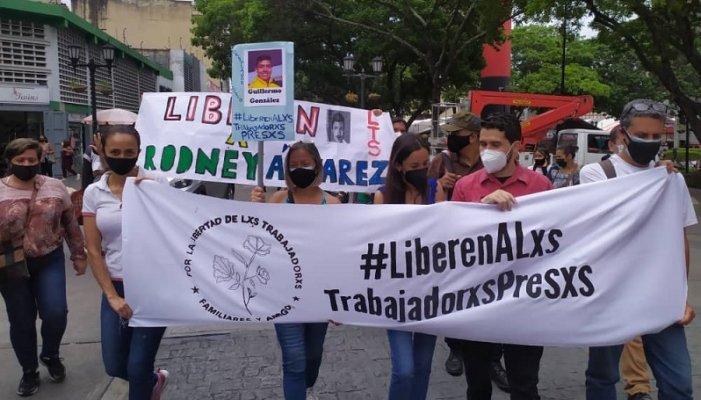 MS presente en protesta frente a la AN exigiendo libertad para los trabajadores presos