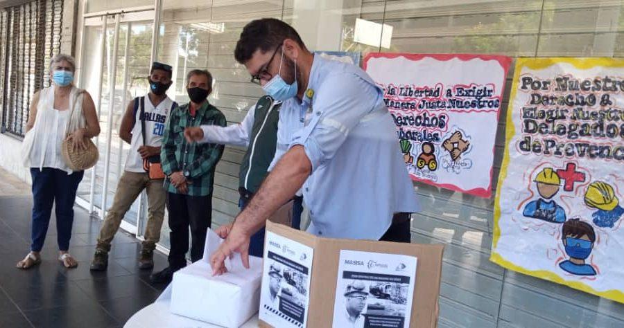 Trabajadores de la Planta Oxinova de Masisa hacen elecciones de delegados de prevención